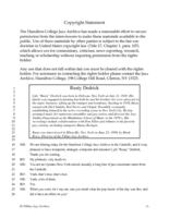 Rusty Dedrick interviewed by Monk Rowe, Ellenville, New York, June 23, 1998 [transcript]