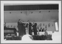Cootie Williams, Jimmy Hamilton, Harry Carney and Russell Procope [photograph, front]