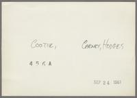 Cootie Williams, Jimmy Hamilton, Harry Carney and Russell Procope [photograph, back]