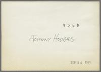 Johnny Hodges [photograph, back]