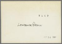 Lawrence Brown and Milt Grayson [photograph, back]