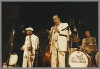Al Grey, Buddy Tate, Gus Johnson [photograph, front]