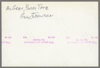 Al Grey, Buddy Tate, Gus Johnson [photograph, back]