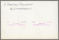 Red Holloway, unknown bassist, Scott Hamilton, Ed Shaughnessey [photograph, back]