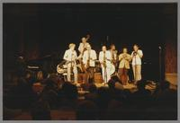 Roland Hanna, Bob Wilber, Bob Haggart, Al Cohn, Marshall Royal, Jeff Hamilton, Snooky Young and Urbie Green [photograph, front]