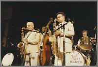 Flip Phillips, Milt Hinton, Plas Johnson and Bert Dahlander [photograph, front]