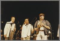 Herb Ellis, Buddy De Franco, Benny Carter and Phil Woods [photograph, front]