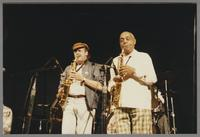 Phil Woods and Benny Carter [photograph, front]