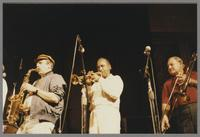 Phil Woods, Harry Sweets Edison and Carl Fontana [photograph, front]