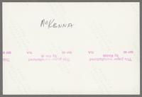 Dave McKenna [photograph, back]