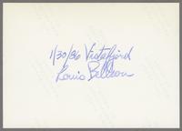 Louis Bellson Band [photograph, back]