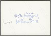 Louis Bellson Band [photograph, back]