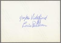 Louis Bellson [photograph, back]