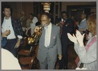 Clark Terry and Major Holley [photograph, front]
