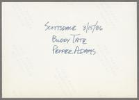 Buddy Tate, Pepper Adams [photograph, back]