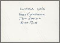 Bob Rosengarden, Jeff Hamilton and Butch Miles [photograph, back]