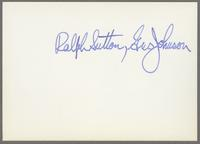 Gus Johnson and Ralph Sutton [photograph, back]
