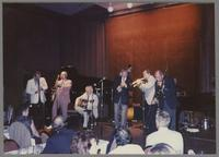 Kenny Davern, Flip Phillips, Herb Ellis, Jim Galloway, Ed Polcer and George Masso [photograph, front]