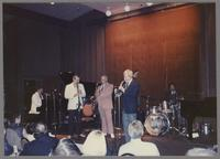 Ralph Sutton, Kenny Davern, Flip Phillips, Jim Galloway and Gus Johnson [photograph, front]