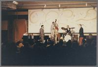 Ralph Sutton, Jon Faddis, Al Cohn, unknown bassist, Bob Rosengarden, unknown trombone [photograph, front]