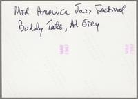 Dave McKenna, unknown musicians, Buddy Tate and Al Grey [photograph, back]