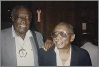 Milt Hinton and Joe Newman [photograph, front]