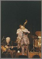 Herb Ellis, Major Holley and Doc Cheatham [photograph, front]