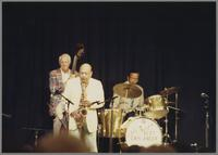 Bob Haggart, Marshall Royal and unknown drummer [photograph, front]
