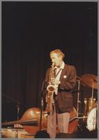 Unknown tenor saxophonist [photograph, front]
