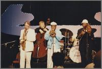 Red Mitchell, Clark Terry, Al Grey and unknown alto saxophonist [photograph, front]