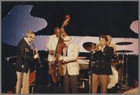 Kenny Davern, Milt Hinton, Bud Freeman, Glenn Zottola and Bob Rosengarden [photograph, front]