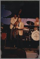 Milt Hinton, Bud Freeman and Bob Rosengarden [photograph, front]