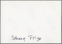 Johnny Frigo [photograph, back]