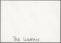 Bill Watrous [photograph, back]