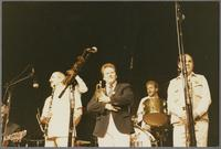 Marty Grosz, Kenny Davern, Warren Vache, Jeff Hamilton and Urbie Green [photograph, front]