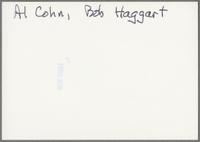 Al Cohn and Bob Haggart [photograph, back]