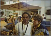 Frank Wess and Holly Hofmann [photograph, front]