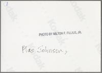 Plas Johnson and George Masso [photograph, back]