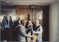 Bob Haggart, Milt Hinton Jay Leonhart and Chubby Jackson [photograph, front]