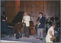 Jay McShann, Harold Ashby, Milt Hinton and Glen Zotolla [photograph, front]
