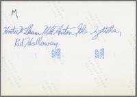 Jay McShann, Milt Hinton, Glen Zotolla and Red Holloway [photograph, back]