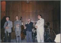 George Chisolm, Urbie Green, Bill Berry and Warren Vache [photograph, front]