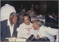 Joe Williams, Buddy Tate and Joe Newman [photograph, front]