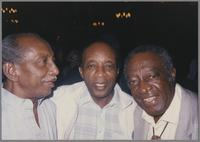 Joe Newman, Ed Thigpen and Milt Hinton [photograph, front]