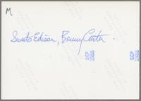 """Harry """"Sweets"""" Edison and Benny Carter [photograph, back]"""