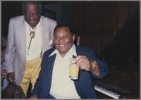 Milt Hinton and Jay McShann [photograph, front]