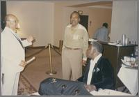 Red Holloway, Ray Brown and Joe Williams [photograph, front]