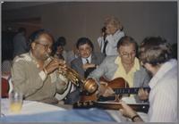 "Harry ""Sweets"" Edison, Bucky Pizzarelli and Dan Barrett [photograph, front]"