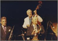 Dick Johnson, Bob Haggart and Red Holloway [photograph, front]