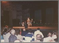 Ella Fitzgerald performing on stage [photograph, front]